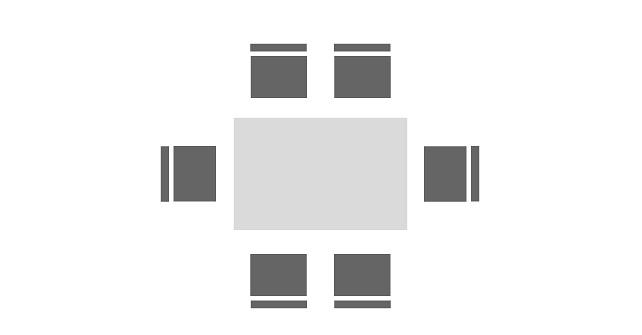 Bestuhlung Blockform klein