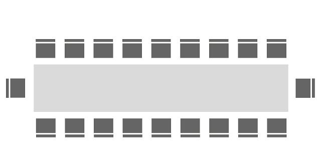 Bestuhlung Blockform