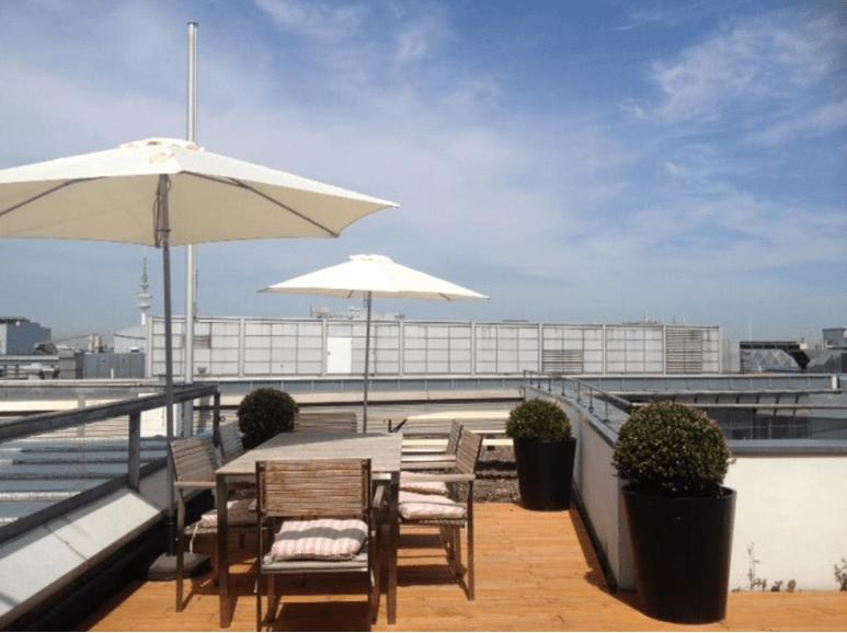 Freie Büroflachen – Dachterrasse
